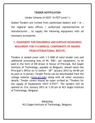 TENDER NOTIFICATION - Gogte Institute of Technology