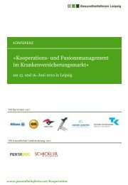 Exposé zur Veranstaltung - Gesundheitsforen Leipzig GmbH