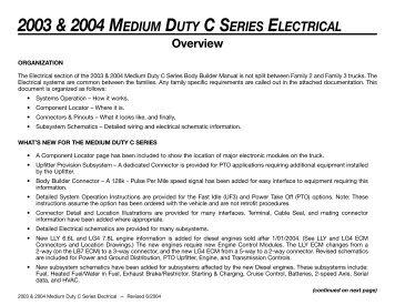 Electrical gm upfitter 2003 2004 medium duty c series electrical gm upfitter sciox Choice Image