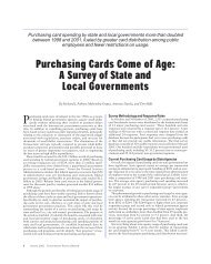Purchasing Cards Come of Age - Government Finance Officers ...