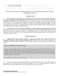 Mainstreaming DRM into the World Bank Development ... - GFDRR