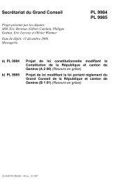 PL 9985 - modifiant la loi portant reglement du Grand Conseil de la ...