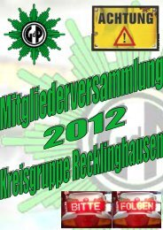Flyer zum Download - (GdP) - Kreisgruppe Recklinghausen