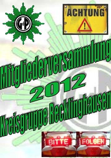 Flyer zum Download - (GdP) - Kreisgruppe Recklinghausen