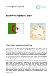 Länderprofil Algerien - Ghorfa