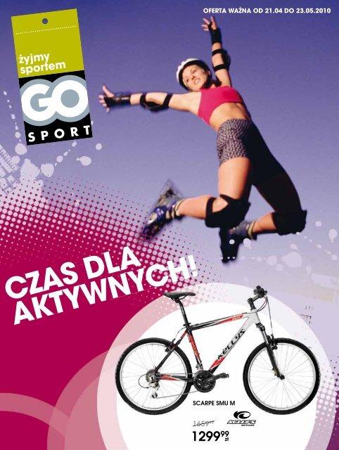 """Gazetka promocyjna """"Czas dla aktywnych"""" - Go Sport"""
