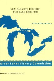 New parasite records for Lake Erie fish. - Great Lakes Fishery ...