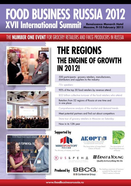 FOOD BUSINESS RUSSIA 2012 - Global Retail Newsletter