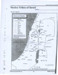 Map: 12 Tribes of Israel
