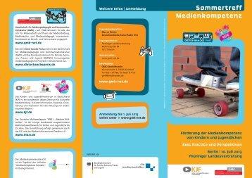 Sommertreff Medienkompetenz - GMK