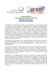 Marguerite KOFIO Organisation des Femmes ... - Genre en action