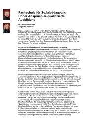 Hoher Anspruch an qualifizierte Ausbildung - GEW Bremen