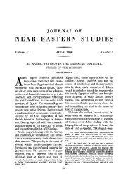 JOURNAL OF NEAR EASTERN STUDIES