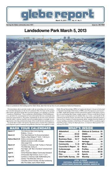 March 15, 2013 - Glebe Report