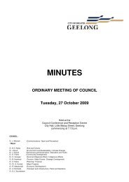 Council Minutes - 27 October 2009 - City of Greater Geelong