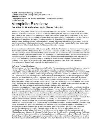 Verspielte Exzellenz - Geographisches Institut