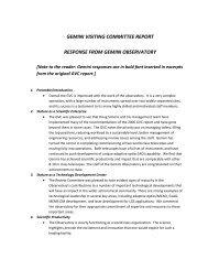 Gemini's response to the GVC report - Gemini Observatory