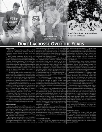 2009 NCAA Semifinalists Duke Lacrosse Over the Years