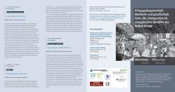 Flyer herunterladen - Geschichtswerkstatt Europa