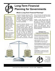 What is Long-Term Financial Planning? - Government Finance ...