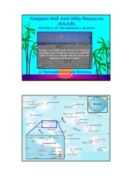 Kwajalein Atoll Joint Utility Resources (KAJUR) - Global Sustainable ...