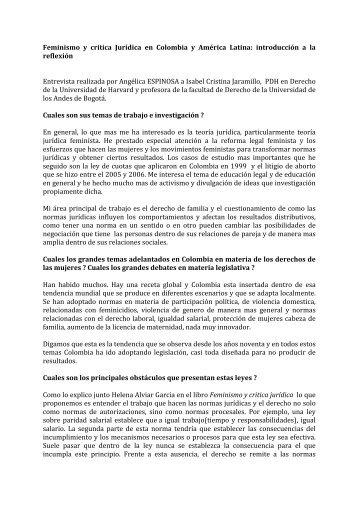 Feminismo y critica Jurídica en Colombia y ... - Genre en action