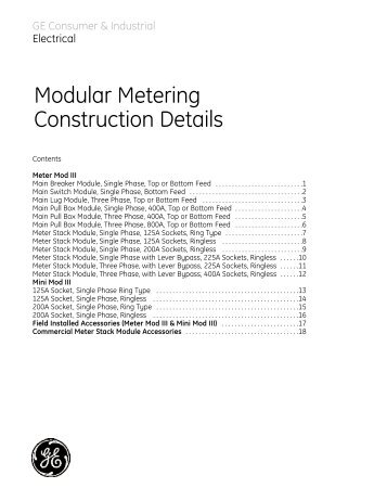 Modular Metering Construction / PDF 1035kb - GE Energy