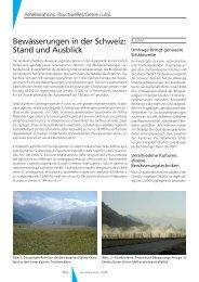 Bewässerungen in der Schweiz: Stand und Ausblick - Geomatik ...