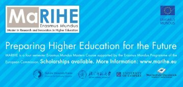 MARIHE Erasmus Mundus 2012