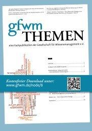 GfWM THEMEN Flyer - GfWM - Gesellschaft für ...