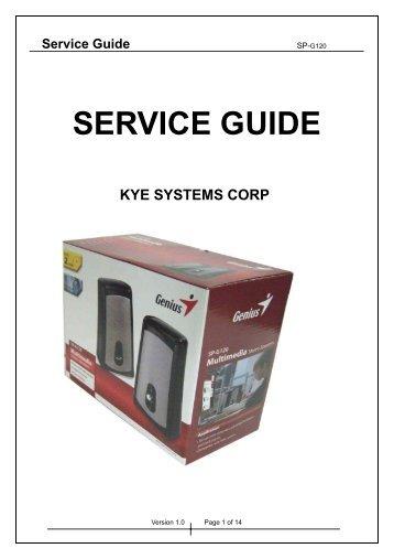 SP-G120 Service Manual.pdf - Genius