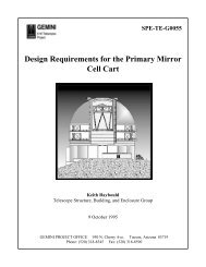 Design Requirements for the Primary Mirror Cell Cart