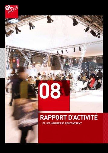 rapport d'activité rapport d'activité - GL events