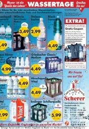 WASSERTAGE Greifen - Getränkefachmarkt Scherer