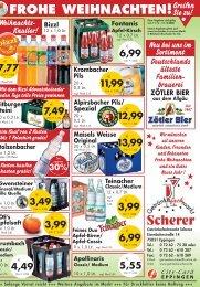 FROHE WEIHNACHTEN! - Getränkefachmarkt Scherer
