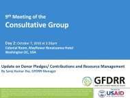 Update on Donor Pledges/ Contributions and Resource ... - GFDRR