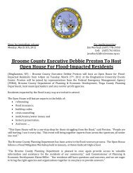 Open House For Flood-Impacted Residents - Broome County