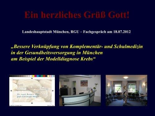 Vortrag, Dr. med. Zell - Gesundheitsbeirat-muenchen.de