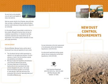 NEW DUST CONTROL REQUIREMENTS - City of Glendale