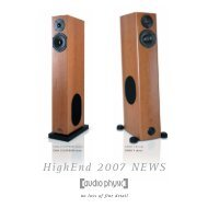 High End News 2007 - Audio Physic