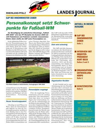 Journal November 2003 - gdp-deutschepolizei.de