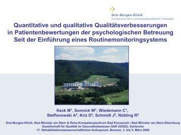 Quantitative und qualitative Qualitätsverbesserungen in ... - GfQG