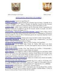 VRAIS ET FAUX MACONS CELEBRES - Grand Lodge Bet-El