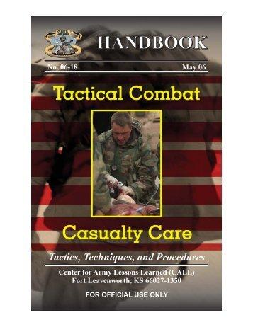 06-18, TCCC Handbook.vp - GlobalSecurity.org