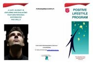 POSITIVE LIFESTYLE PROGRAM - Salvation Army