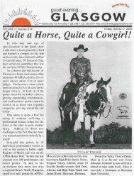 Quite a Horse, Quite a Cowgirl! - Glasgow Montana