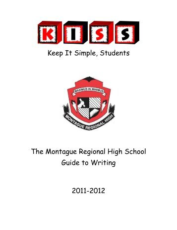 Keep It Simple, Students The Montague Regional High School ...