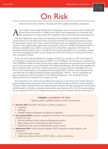 On Risk - Grantmakers In Health