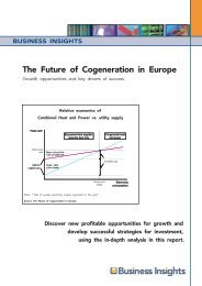The Future of Cogeneration in Europe - Business Insights