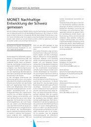 MONET: Nachhaltige Entwicklung der Schweiz gemessen